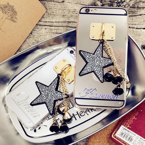 Luxury Fancy Unique Custom name letter star tassel mirror phone case For Xiaomi Redmi 6 8 note 4 4X 4A 5A note5A pro