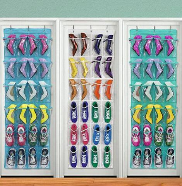 Sales!!!!2019 Wholesales Pocket Home Over The Door Hanging Organizer Storage Holder Rack Closet Shoes