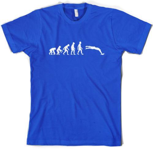Evolution of Man Swimming Mens T-Shirt / Swimmer top / gift 10 Colours S-XXL