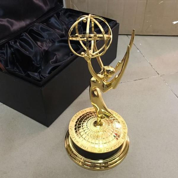 Gerçek 1: 1 Metal Emmy Trophy ödülü Fabrika Doğrudan Satış Emmy Trophy Ödülleri Ile Ücretsiz DHL gönderi
