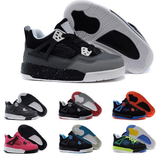 Großhandel Nike Air Jordan 4 13 Retro Kinder 12 Schuhe Kinder Basketballschuhe Junge Mädchen 12s OVO Französisch Blau Das Master Taxi Playoff