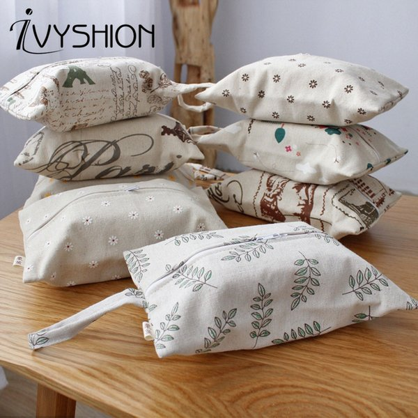 IVYSHION Double Layers Tissue Box Printed Durable Wall Hanging Type Home Paper Cloth Napkin Holder Car Storage Hanging Bag