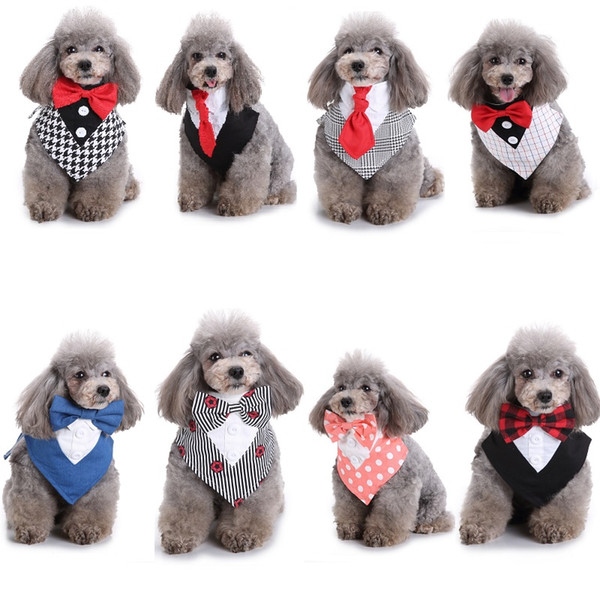 Haustier-Hundekatze-Welpen-Bandana-Lätzchen-Dreieck-Kopf-Schals-Zusätze sortierte Farbe mit Fliegen 20pcs