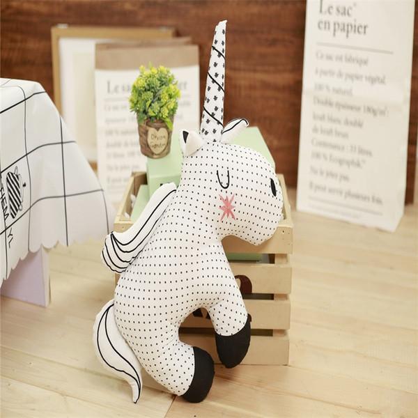 Oreiller jouet en peluche arc-en-ciel de licorne pour le confort apaise dormir bébé fille coussin belle chambre coréenne des enfants décoration