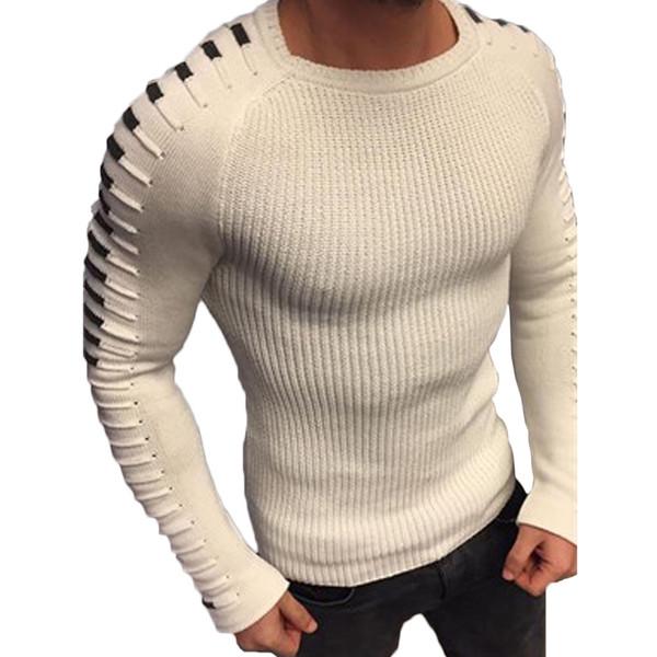 Compre Los Hombres De Invierno De Punto Cálido Suéteres De Cuello ...