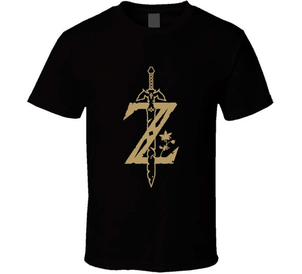 La leggenda di zelda respiro della selvaggia Sword T Shirt MensTee regalo New From US ragionevole maglietta a quadri Print T shirt Men Fashion