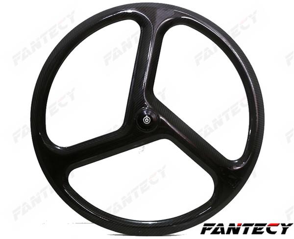700C Full Carbon wheels 23mm width 40mm depth Clincher/Tubular tri spoke for Track/Road Bike Wheelset