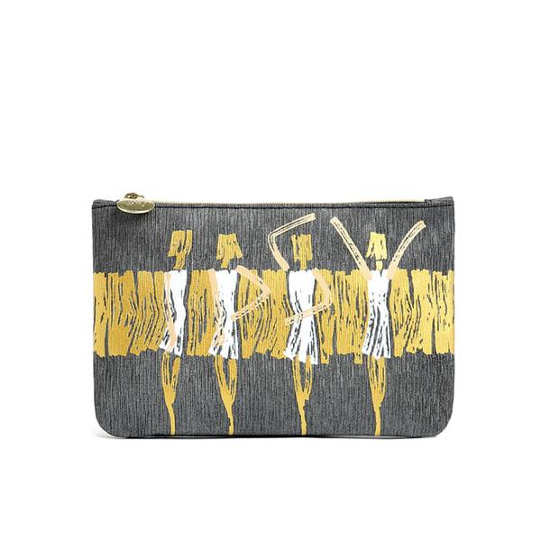 women's fashion PU leather cartoon printing cosmetics bags waterproof make up case organizer bag in bag day satchel bags