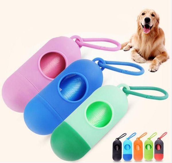 best selling Dog Plastic Bags Portable Pet Dog Dispenser Garbage Case Included Pick Up Waste Poop Bags Pet Waste Bag DHL FEDEX FREE