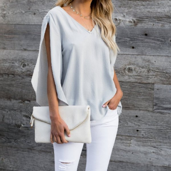 2019 Fashion Bow Tie V Neck Chiffon Shirts Casual OL Long Sleeved Flounced Blouses Summer Loose Tops
