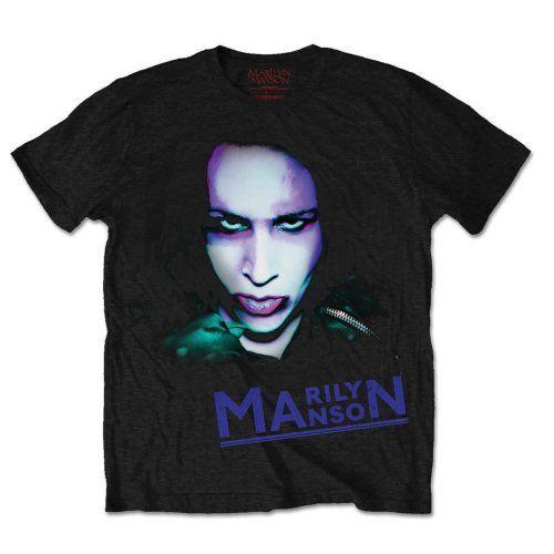 Marilyn Manson Oversaturated Photo T-Shirt Unisex Taille / Size L ROCK OFF