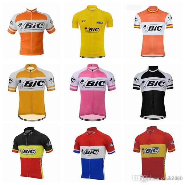 2018 новый Bic Team Велоспорт с короткими рукавами Джерси MTB Ropa мужская велосипедная одежда лето комфортно дышащий горячий F2010