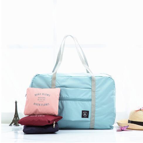 Sacos de Viagem À Prova D 'Água De Nylon Mulheres Homens de Grande Capacidade Dobrável Duffle Bag Organizador Embalagem Cubos de Bagagem Menina Saco de Fim De Semana
