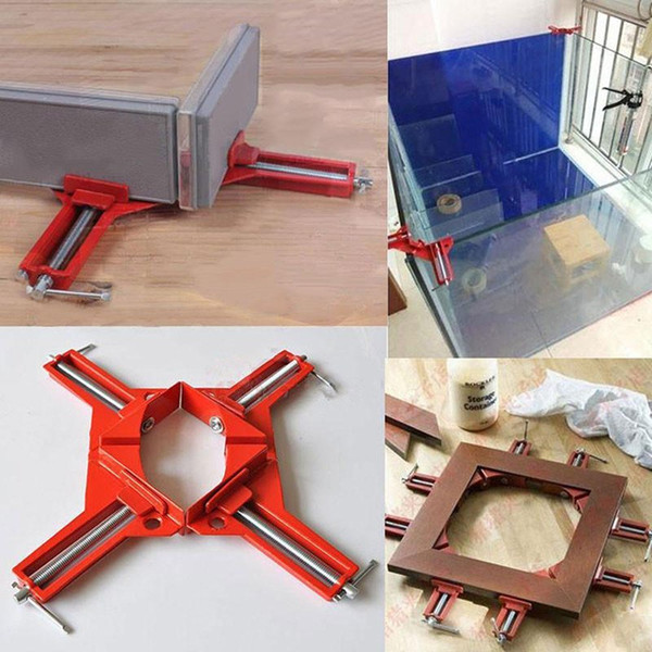 4Pcs 3.3 Inch 90 Degree Right Angle Corner Holder Clamp Multifunctional Picture Framing Holder, Woodworking Hand Tools