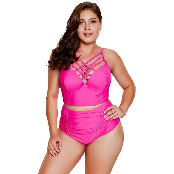 a57bf74c26ede1 Großhandel Neue Plus Size Bademode Bikini Schwarz Riemchen Neck Detail Hohe  Taille Badeanzug Sexy Badeanzug Beachwear Für Frauen XXXL Von ...