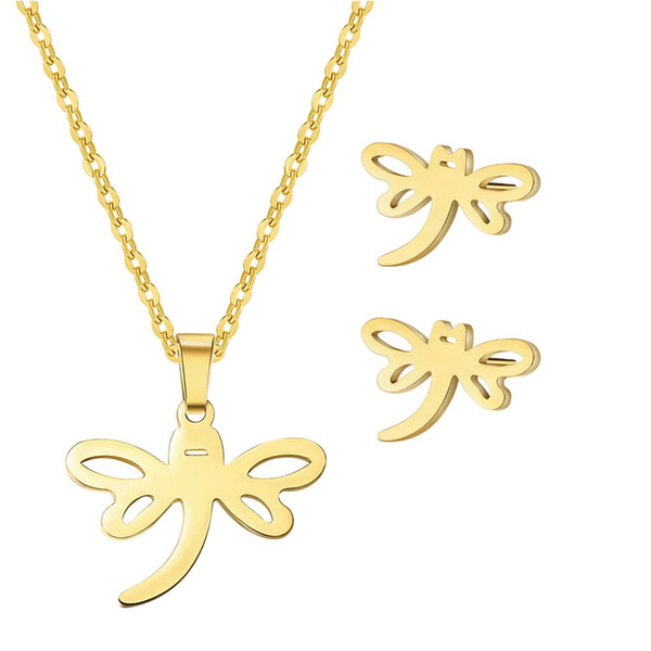 mrwonder Women Fashionable Butterfly Ornament Set Elegant Necklace & Graceful Ear Stud Festival Birthday Gift