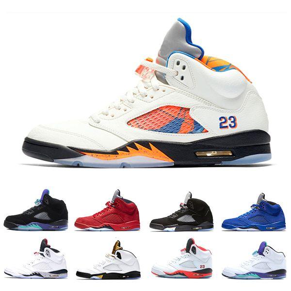 fca64a7590c1 New 5 5s men Basketball Shoes Premium Bordeaux red Blue Suede Heiress Camo  Grey OG Black