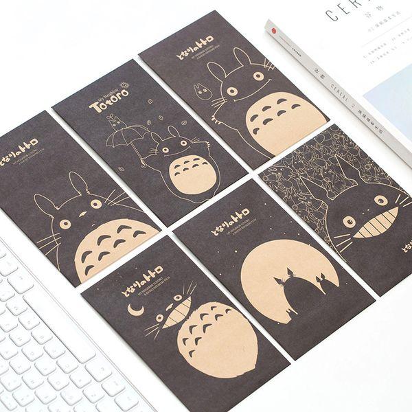 2pack/lot Kawaii Japanese Totoro Envelope (10pc Envelope+12pc Stickers) School Cute Stationery Kids Gift