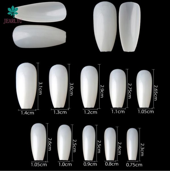 Hot Sell Professional 600pcs Ballet Nature False Nails Long Half French Acrylic Nail Tips Square Head Fake Nails Art Tips g01