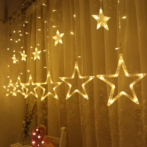 Twinkle Star Cortina Luzes Da Corda Da Janela Luzes Da Cortina com 8 Modos de Piscando Decorações de Natal Luzes Interior, Decorações Da Festa de Casamento