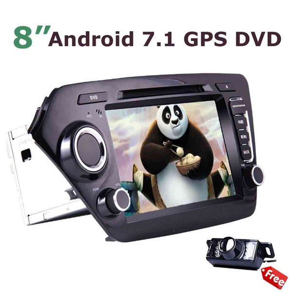 """Double 2 Din in Dash GPS Headunit 8"""" Android 7.1 car DVD Player Mirror link Steering wheel control function for KIA K2"""