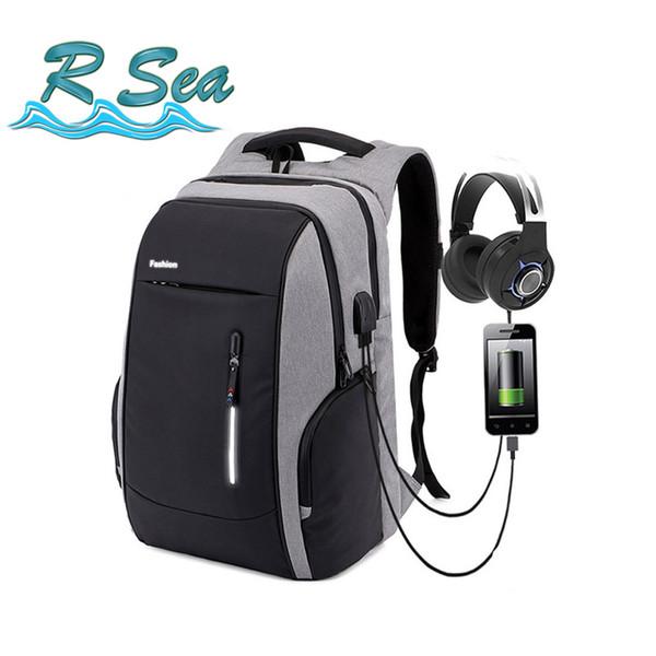 Backpack Men Laptop Charging Anti Theft Backpacks Oxford Large Capacity Teenagers School Bag Travel bag bookbag Fast shipping
