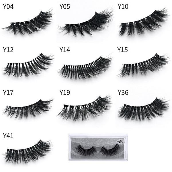10 Styles 3d Mink Eyelashes Natural Long Thick False Eye Lashes Eye Makeup Make Up Eyelash Extension Mink Hair Fake Eyelashes Y series