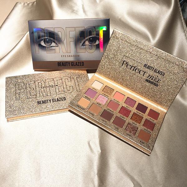 Belleza Maquillaje esmaltado hudas 18 Sombras Piedras preciosas y Coral Maquillaje Sombra de ojos Paleta Brillo Brillo Mate Nude Sombra de ojos Paleta