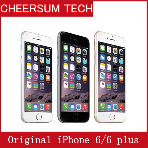 Original apple iphone 6 6 plu unlocked cellphone 4 7 inch 16gb 64gb 128gb a8 io 8 0 4g without touch id refurbi hed phone iphone 6 plu