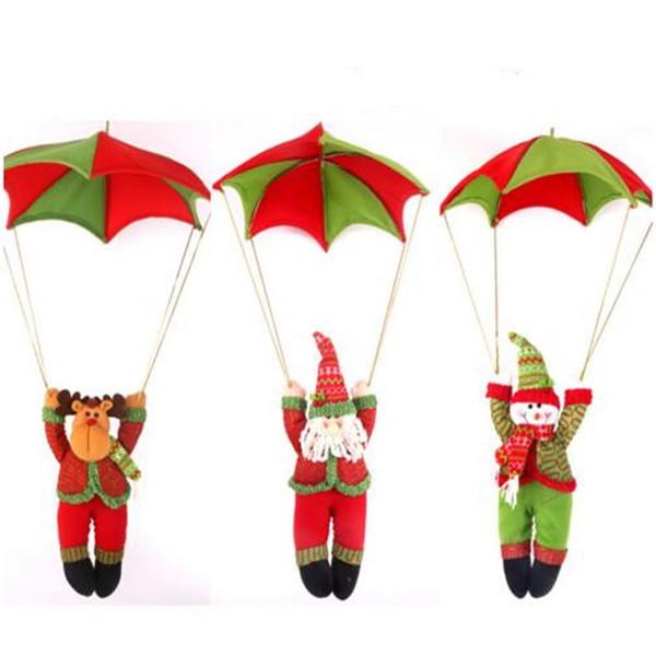 Weihnachtsschmuck Neujahr 80 * 50 Cm Schneemann Weihnachtsmann Elch Parachute Jump Weihnachtsdekoration Liefert Weihnachten Hängende Puppen
