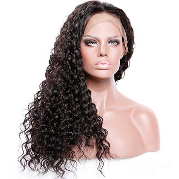 ZhiFan Afro Style Kinky Curly Human Hair Hand Hook Full Lace Wigs For Black Women Natural Hairline Lace Front Wig