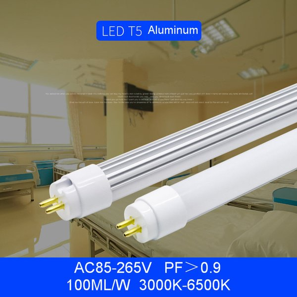 T5 LED Tube Light G5 2ft 3ft 4ft 5ft AC85-265V PF0.9 90-100LM 2835SMD Single Lamps Fluorescent Bulbs Direct from Shenzhen China Wholesales