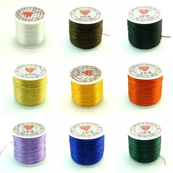 60M/Roll Colorful Elastic Cord Crystal String For Jewelry Making Beading Bracelet Wire Fishing Thread Rope Factory price Wholesale 8 roll
