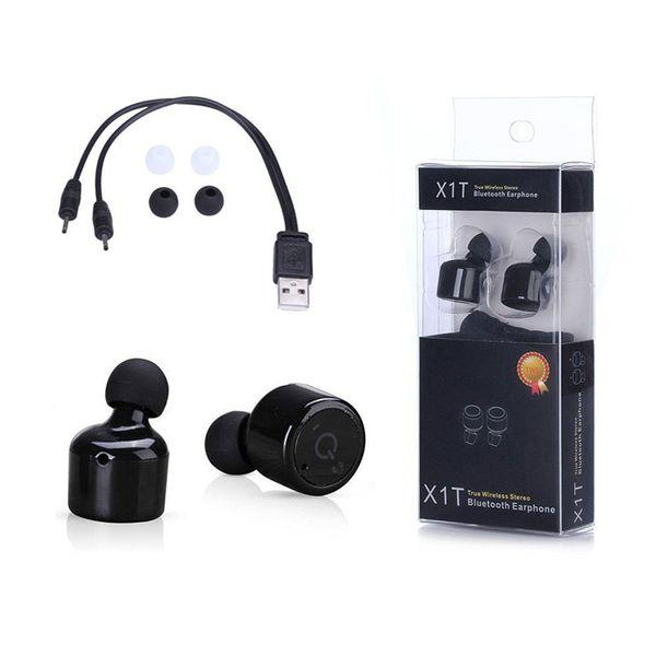 X1T Gêmeos mini fones de ouvido Bluetooth Fones De Ouvido Intra-auriculares Sem Fio Verdadeiro CSR 4.2 Esporte Fone De Ouvido Estéreo Com embalagem de varejo