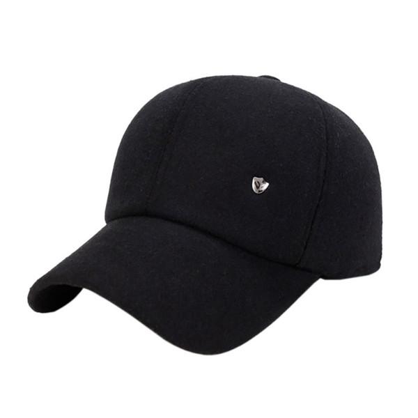 2018 Men's Outdoor Sports Hat Baseball Tennis Outdoor Wool Earmuffs Baseball Cap