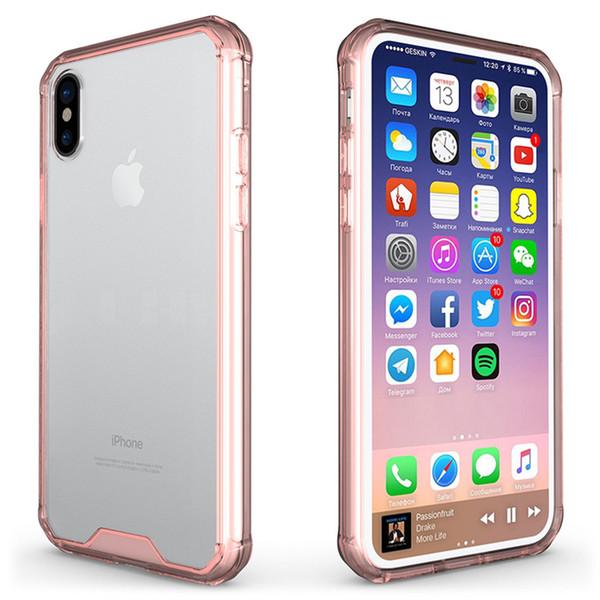 2018 venda de Natal para a caixa do telefone Iphone XR Caso Limpar macio TPU dura do PC Capa para iPhone XR XS Max por DHL