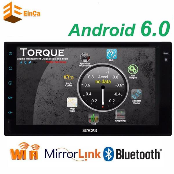 best selling Android 6.0 Car video radio Stereo 2Din GPS Navigation Head Unit Radio Receiver WiFi OBD2 Mirrorlink+External Micro steering wheel control