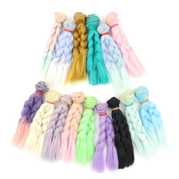 15cm*100CM Doll wigs/hair Braid hairstyle For 1/3 1/4 1/6 BJD/SD doll DIY wigs accessories girls birthday gifts