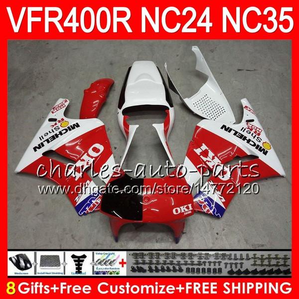 RVF400R For HONDA VFR400 R NC24 V4 VFR400R 87 88 94 95 96 81HM.3 RVF VFR 400 R NC35 Not Race !! VFR 400R 1987 1988 1994 1995 1996 Fairings
