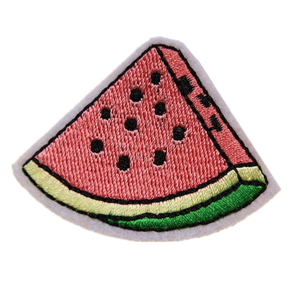Ricamo Patch Anguria Frutta Cucire Ferro Sulle Patch Ricamate Distintivi Per Borsa Jeans Cappello T Shirt Appliques FAI DA TE Decorazione Del Mestiere