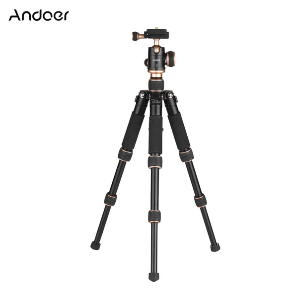 Andoer Travel Portable Mini Tischstativ mit Kugelkopf Schnellwechselplatte für Canon Nikon Sony A7 DSLR Kamera Smartphone DV
