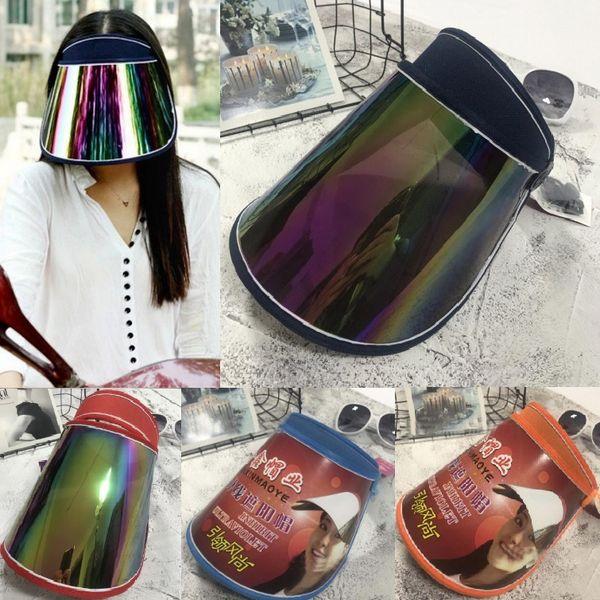 Cap Wholesale Visors For Car Anti UV Light Cap PC Sun Hat Colorful Board To Ride Sun Visors