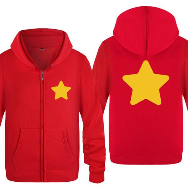 Sweats à capuche Hommes STEVEN UNIVERSE Star Printed Hommes Hoodie Molleton à manches longues Hommes Veste Sweatshirts Hip Hop Streetwear Skate