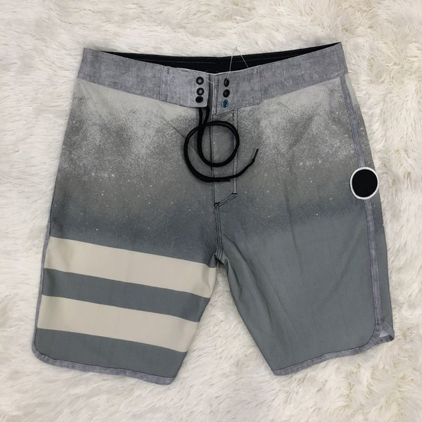 top popular 2018 New Beach Shorts for Men Branded Waterproof Drawstring Shorts Summer Sport Pants with Pockets Striped Sportswear 2019