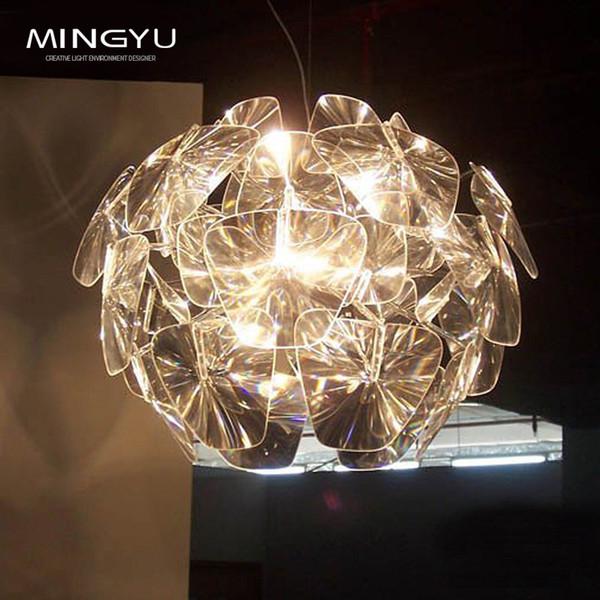 Moderne LED Kristall Kronleuchter Lampe Glas Kunst Kronleuchter Licht  Blattform Platten Blume Pendelleuchte Für Foyer Hotel