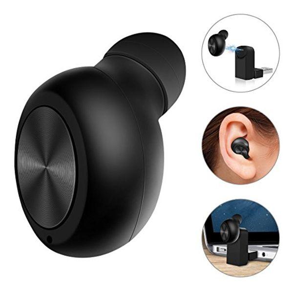 Мини-USB Магнитная зарядка Bluetooth Беспроводные наушники-вкладыши Handsfree Наименьшее скрытые наушники с микрофоном для Smartphone