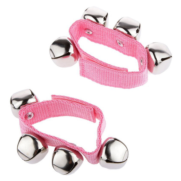 top popular 1 Pair Wrist Ankle Bells Instrument Toys for Baby Kids - Orange, Blue , Green , Pink L 2020