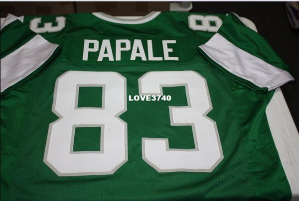 best selling Men Vince Papale #83 Sewn Stitched RETRO JERSEY Full embroidery Jersey Size S-4XL or custom any name or number jersey