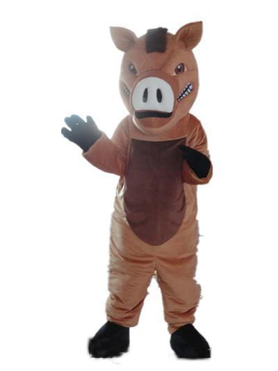 2018 High quality hot a brown boar mascot costume with big nose for adult to wear
