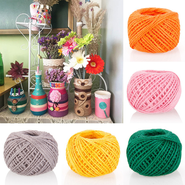 top popular New 50M DIY Color String Rope Photo Wall Making Twine Thread String Cord Shank #248843 2021